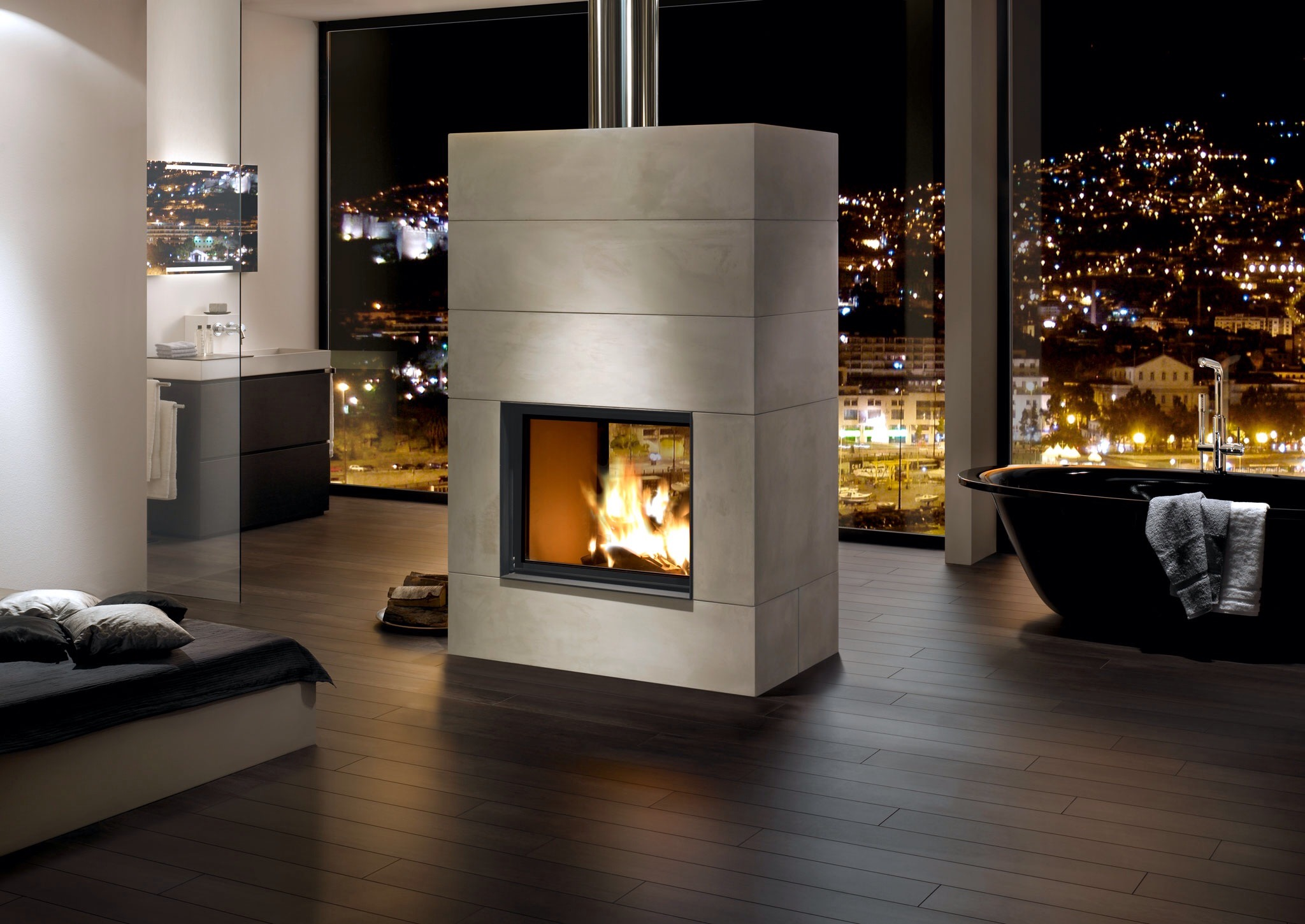 heizkamin brunner tunnelkamin 6757. Black Bedroom Furniture Sets. Home Design Ideas