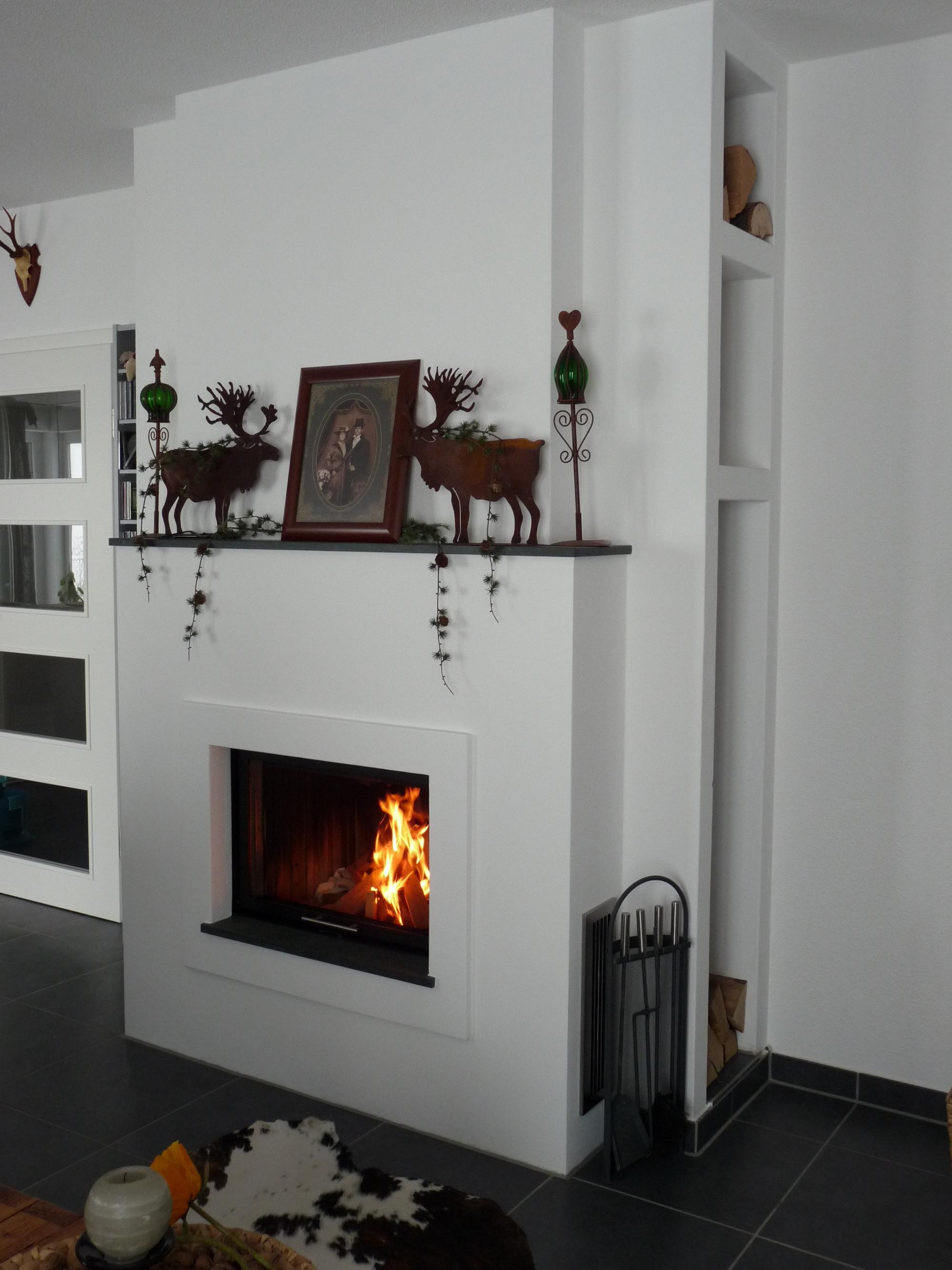 Heizkamin gemauert mit Wärmespeicher
