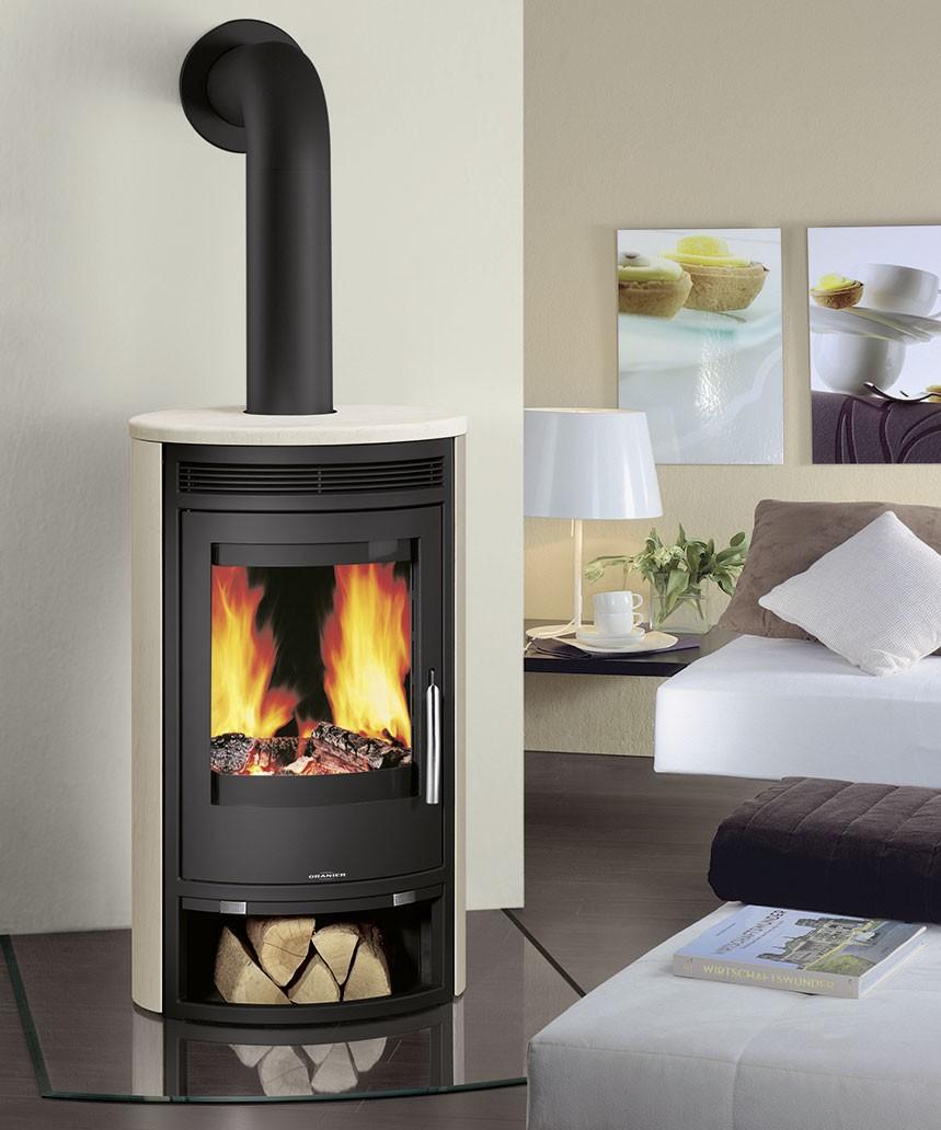oranier kaminofen arktis 7 kalkstein cream korpus stahl. Black Bedroom Furniture Sets. Home Design Ideas