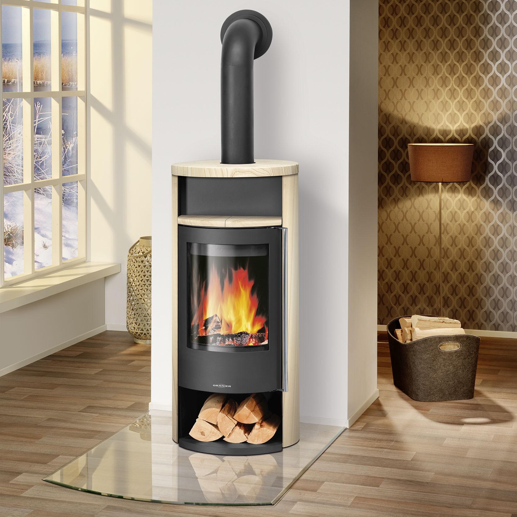 oranier kaminofen polar neo 8 sandstein korpus stahl schwarz. Black Bedroom Furniture Sets. Home Design Ideas