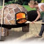 Pizzaofen aus Bruchstein