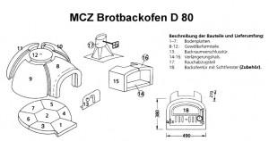 Pizzaofen Brotbackofen D80
